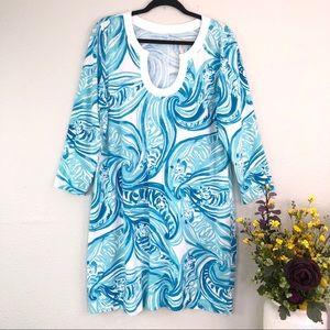 Lily Pulitzer Sea Ruffles Tiger Marlina tunic dres